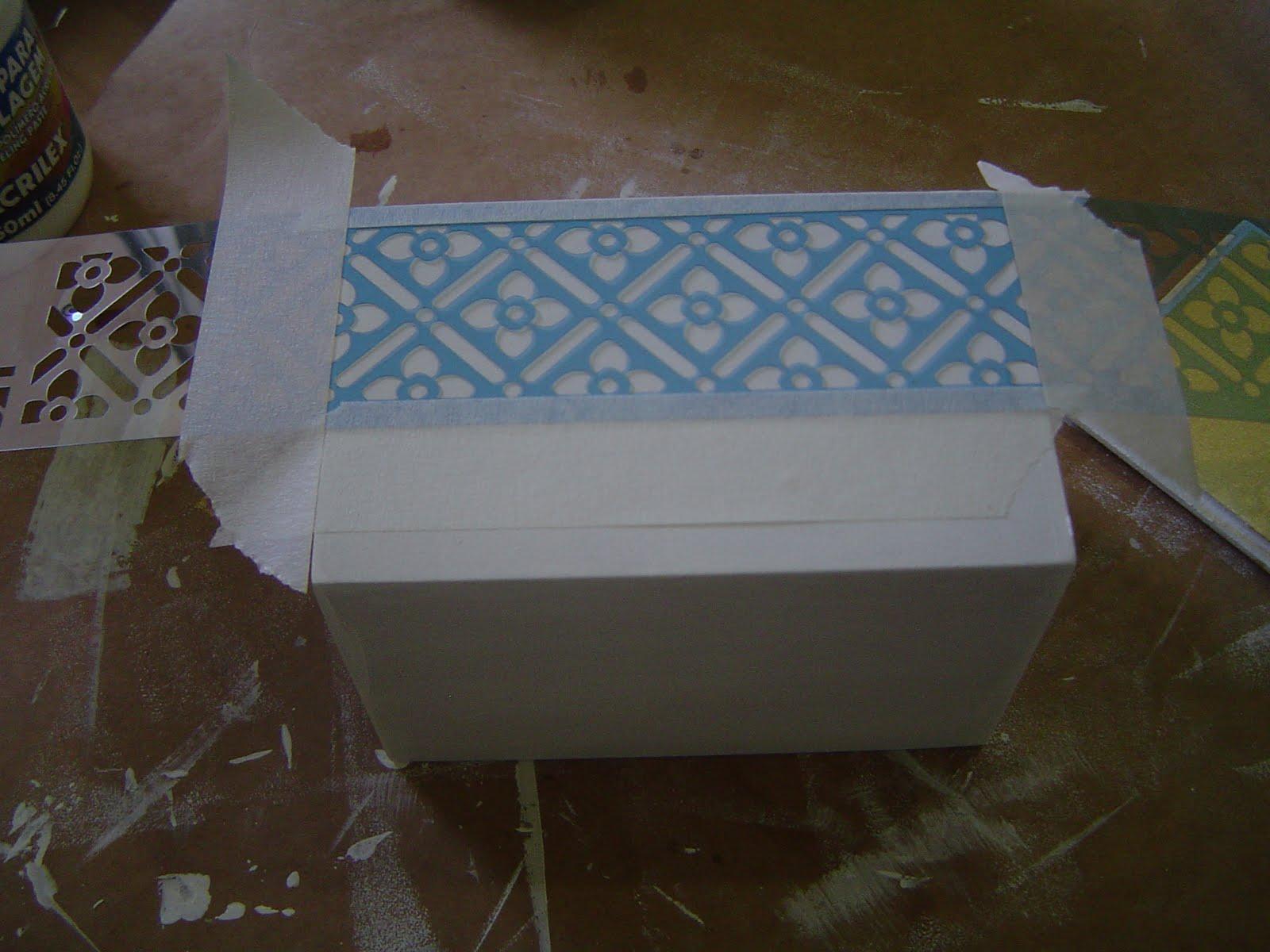 Potinhos para banheiro com textura de renda Tramas e Pinturas O  #0078CC 1600 1200