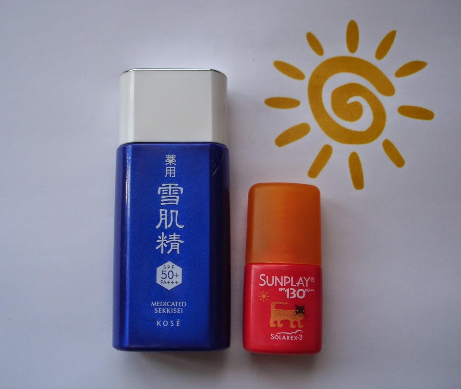 Kose Medicated Sekkisei Sun Protector Spf50 Mentholatum Sunplay Super Block Spf130