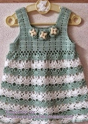 Vestido de verano de niña crochet