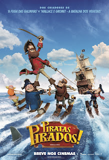Pôster/capa/cartaz nacional de PIRATAS PIRADOS! (The Pirates! Band of Misfits)