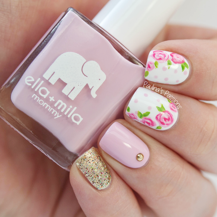 13 Nail Art Ideas For Teeny Tiny Fingertips Photos: Love Varnish: Guest Post // Roses And Glitter By Paulina's