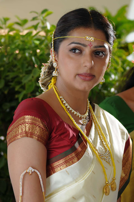 bhumika chawla in saree cute stills