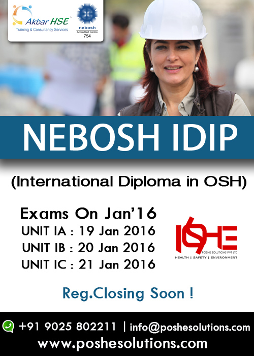 nebosh international diploma unit d assignment Nebosh international diploma unit c blended week timetable day morning session afternoon session 0830 1030 1045  wwwharrogateacuk  nebosh national diploma unit d assignment contents section subject executive summary introduction review of the 1 / 2.
