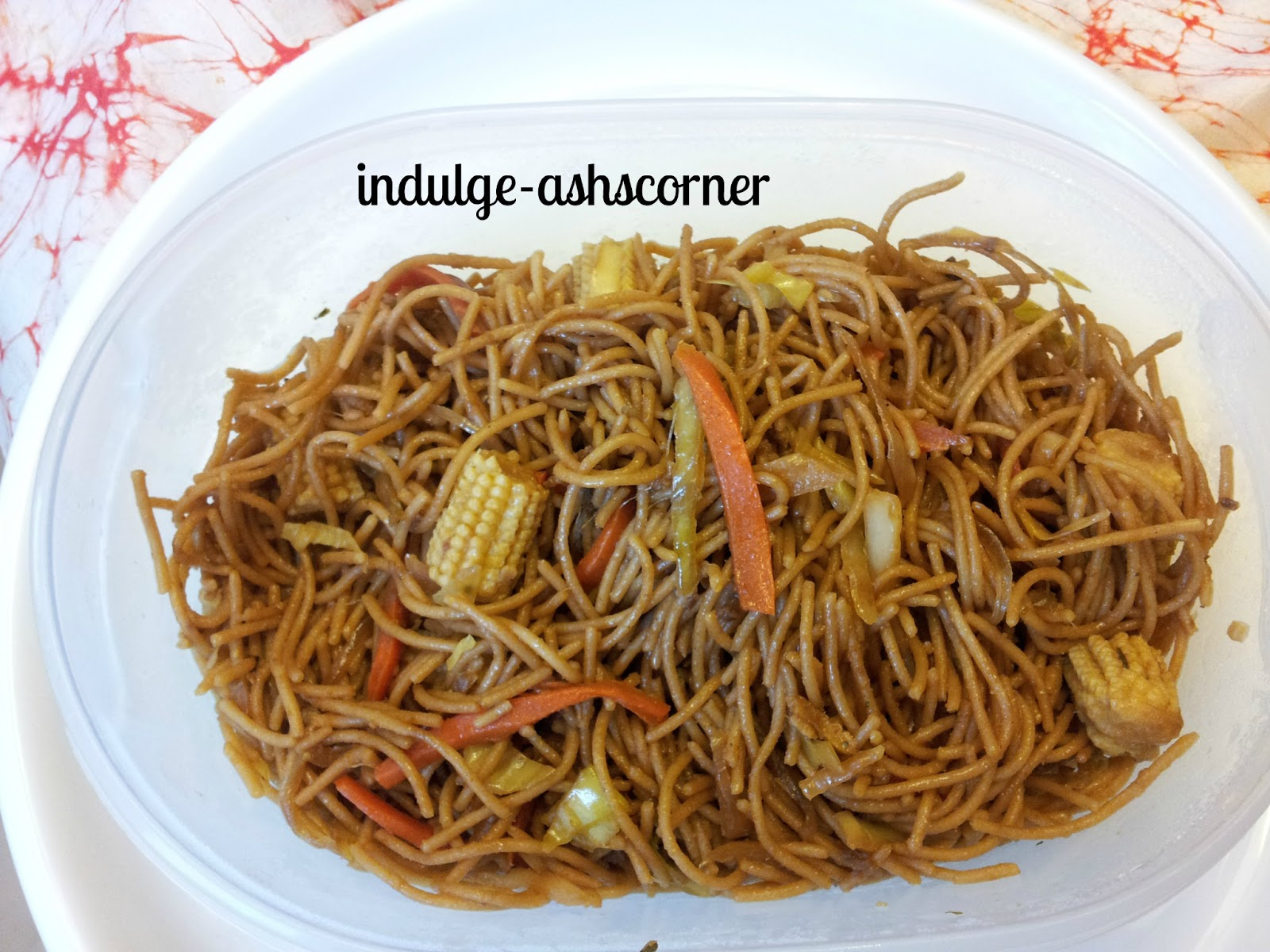 Indulgeashscorner Kids Lunch Box Vegetable Wheat Noodles