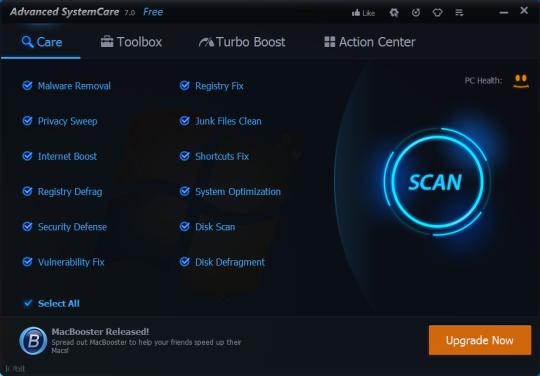 تحميل برنامج Advanced SystemCare لإصلاح جميع مشاكل جهازك وتحسين أداء النظام مجاناً 7.0.5