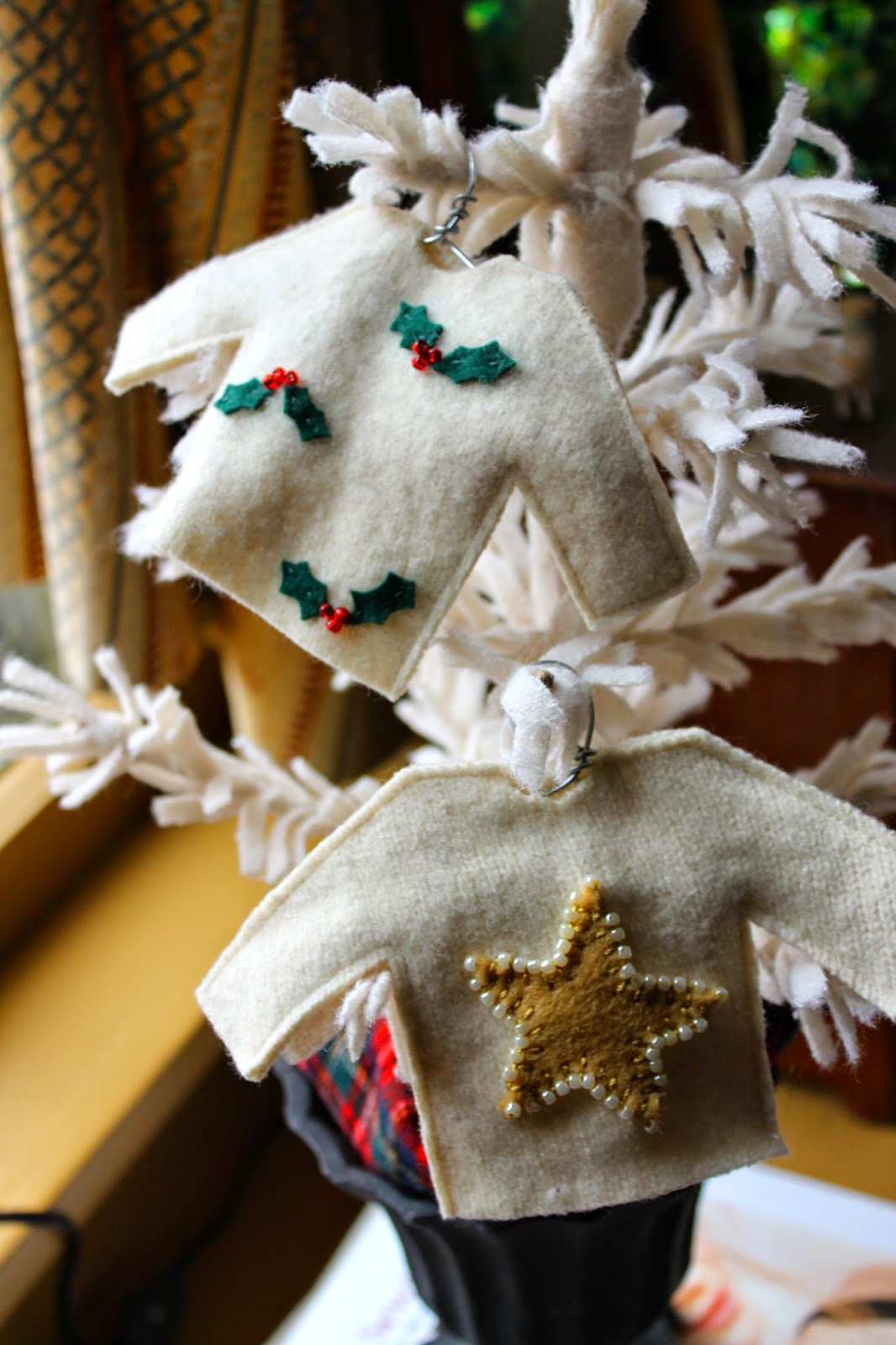 Ragingwool ugly christmas sweater ornaments