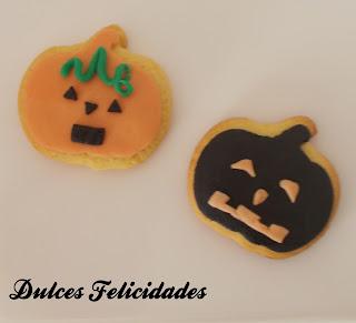 Galletas calabazas halloween fondant