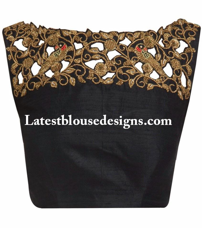 cut work blouse designs