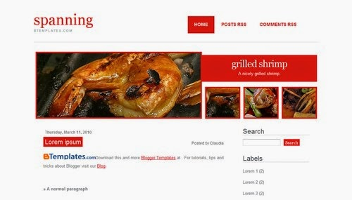 Spanning - Free Blogger Template
