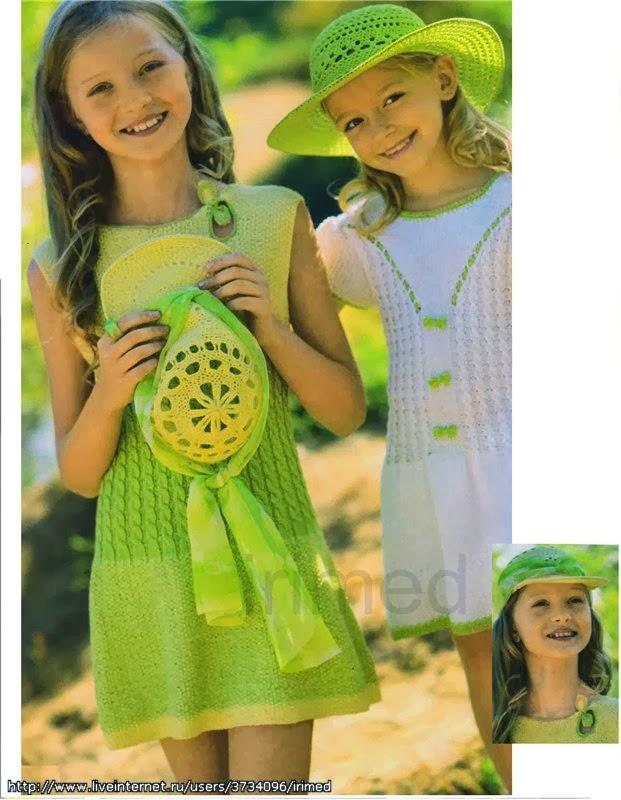 Вязание маленьким девочкам для лета 796