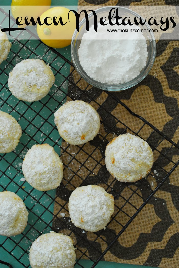 The Kurtz Corner: Lemon Meltaway Cookies