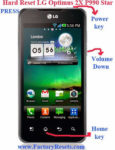 Hard Reset LG Optimus 2X P990 Star