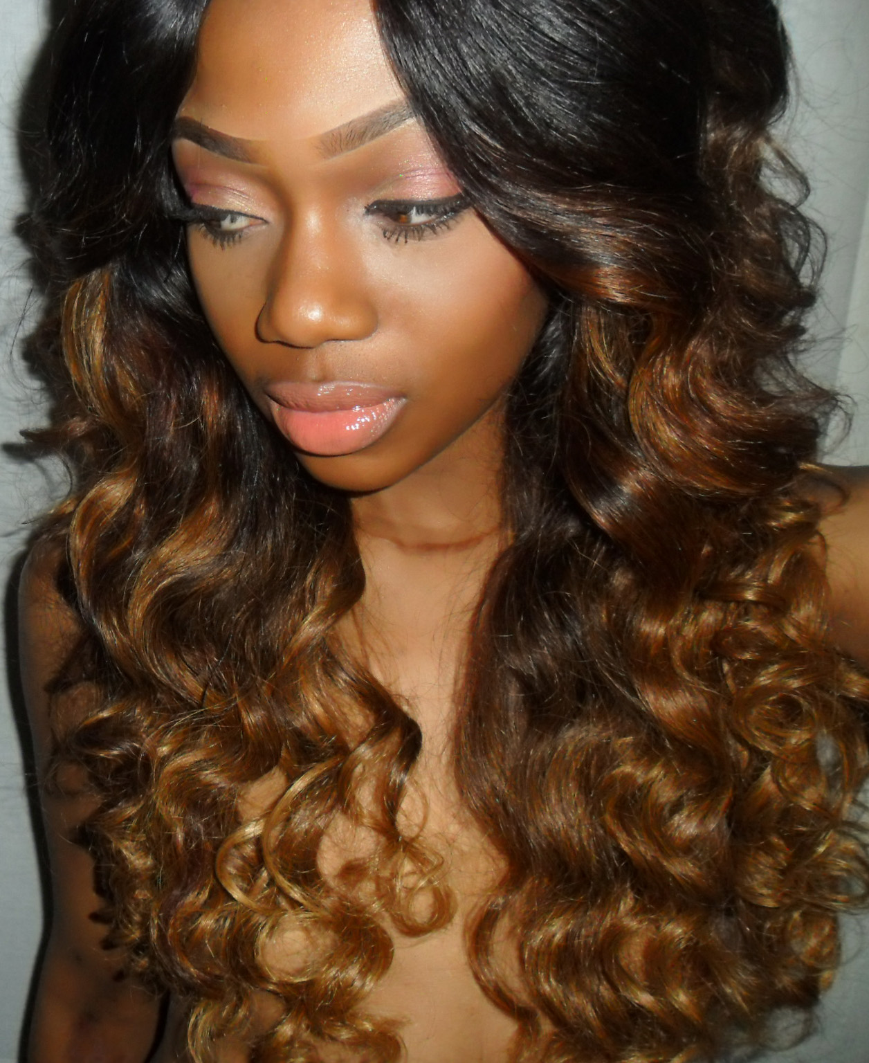 Ombre Hair with Black Roots