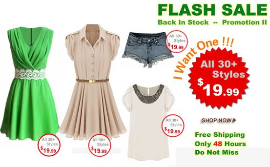Super slim price flash sale!  Only 48 hours!  Hot items back season!  Only $19.99!