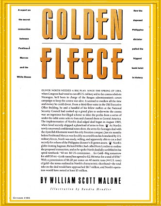 NEXT-Up By  W. Scott Malone -- The GOLDEN FLEECE: