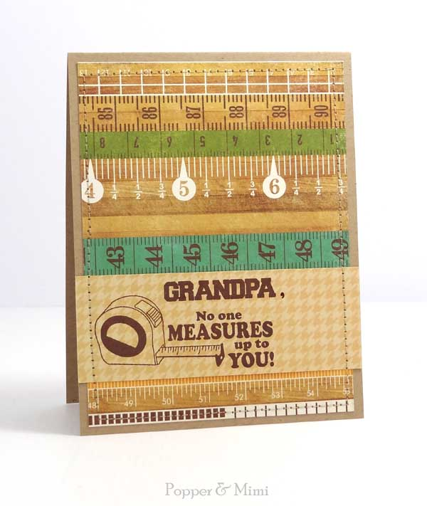 No One Measures Up to You Card for Grandpa | popperandmimi.com