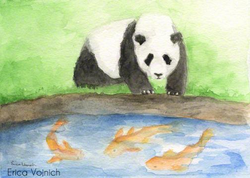 Panda Art Koi