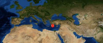 Epicentro sismo 5,7 grados mar mediterraneo 09 de Julio 2012