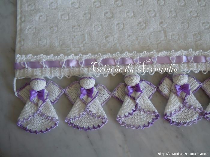 Croche Madona-mía puntos y graficos: Crochet para toallas