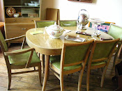 Beautiful 8 piece set of Danish Modern Furniture Dining Set