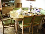 Beautiful 8 piece set of Danish Modern Furniture Dining Set
