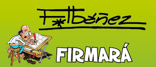 Firma de Francisco Ibáñez en Barcelona