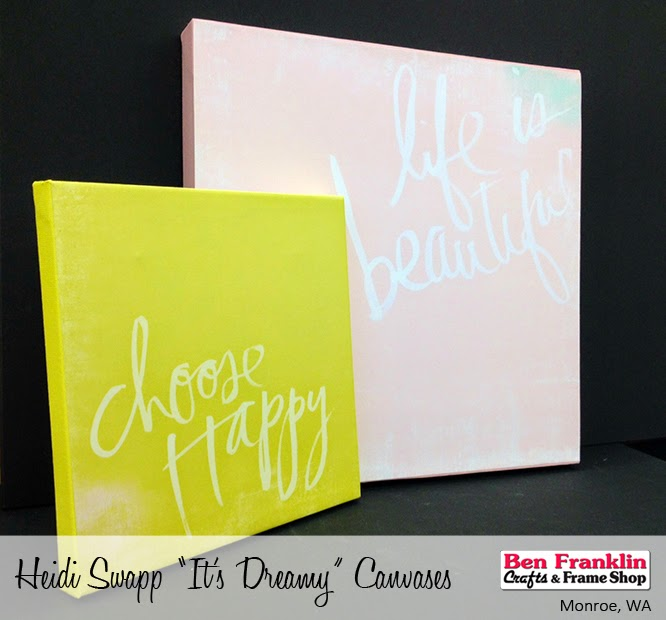 DIY Heidi Swapp IT'S DREAMY Canvases