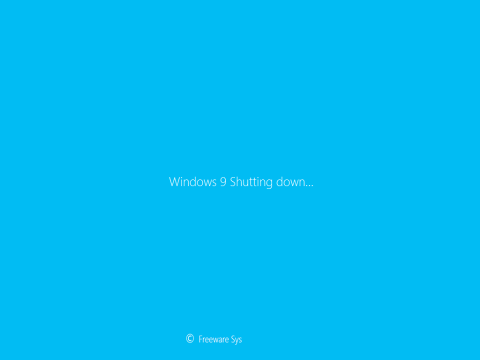 Windows 9 Professional Shutting Down
