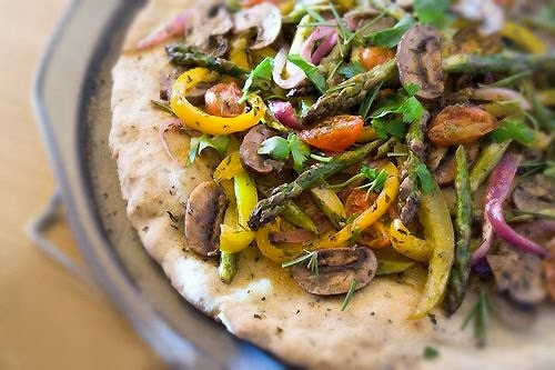 Free Pizza Flatbread with Roasted Vegetables