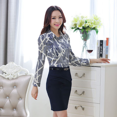 Model Desain Baju Kerja Wanita Korea Cantik dan Elegan