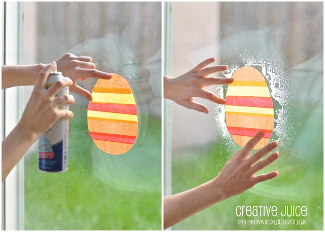 Spring Classroom Decorations To Make ~ Tutorial tissue paper window art creative juice