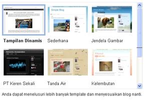 cara memilih template blog blogspot bisnis online