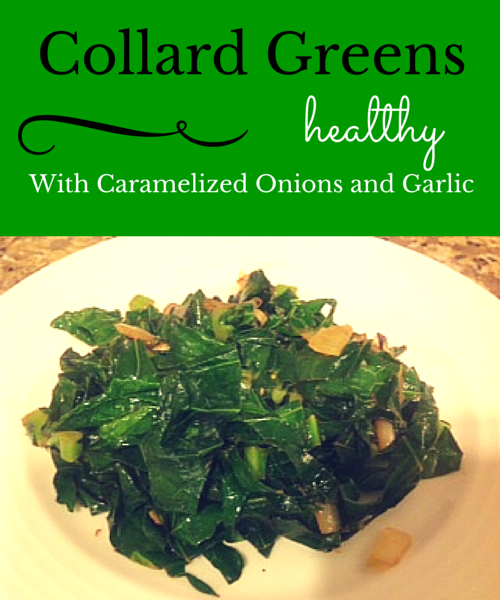 vegan collard greens and onions