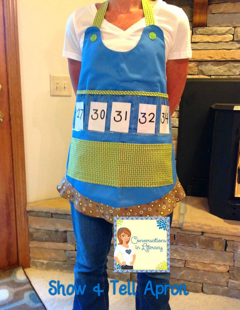 Use number cards in the apron