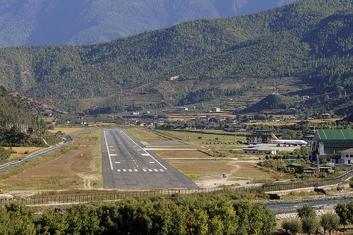 Paro international airport bhutan photobundle
