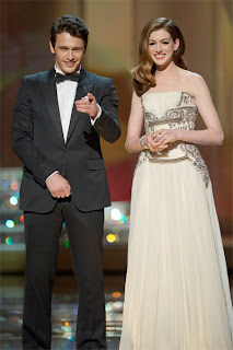 8rd Academy Awards Ceremony Co-hosts James France (left) and Anne Hathaway (right) - Source: The Academy of Motion Picture Arts and Sciences