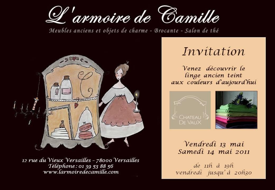 Grande Vente De Linge Ancien Teint L 39 Armoire De Camille
