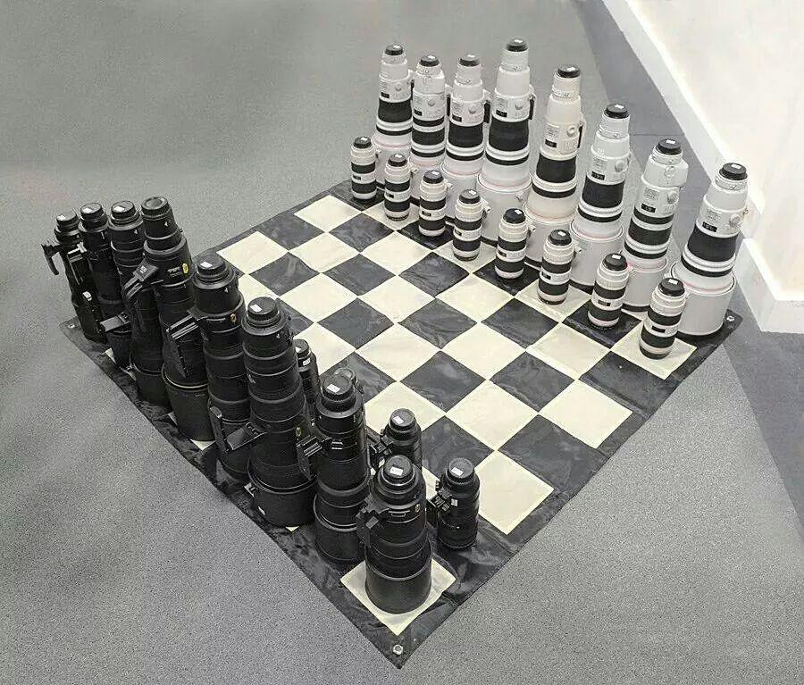 10 maneiras de reciclar lentes fotográficas xadrez