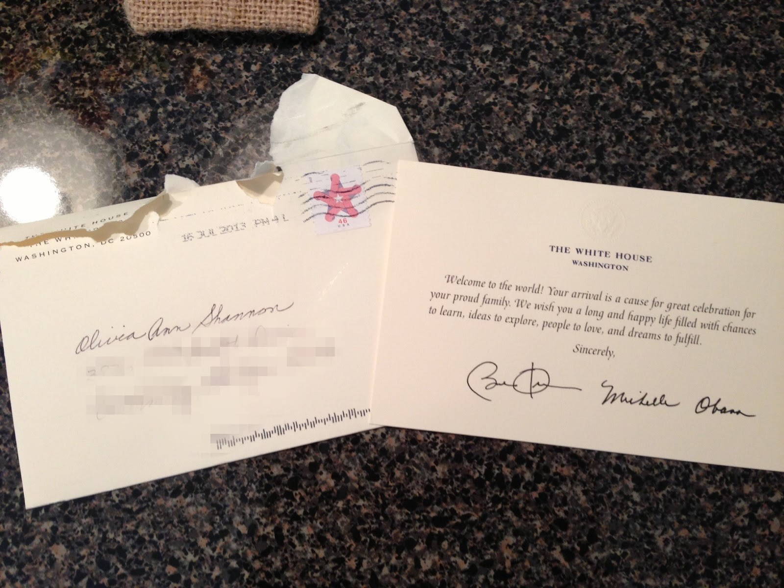 Real Life of an Expat Wife: Olivia's Letter from the White House