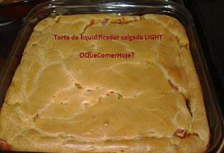 Receita de Torta de Liquidificador Salgada Light
