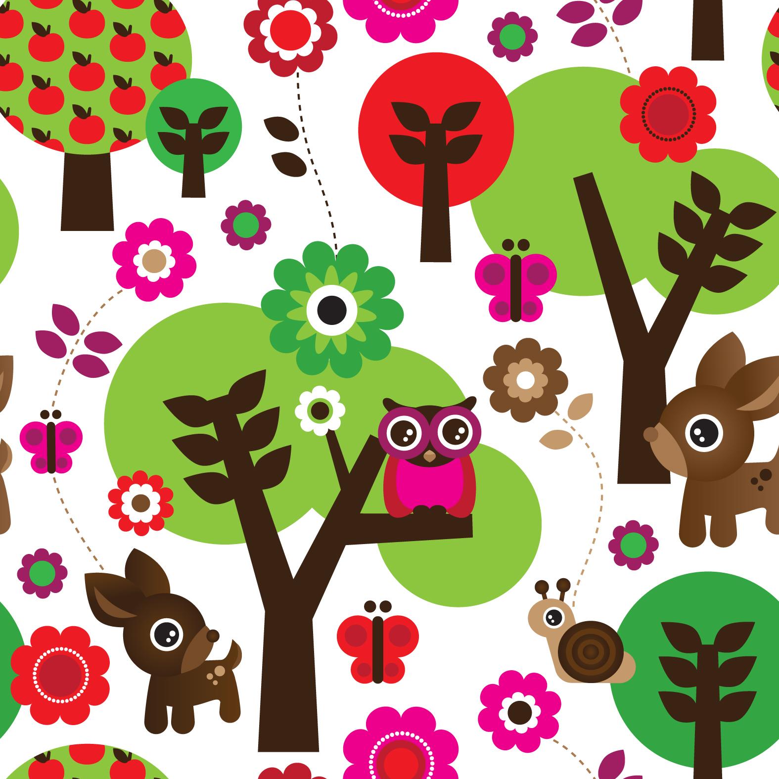 little smilemakers studio: > Cute owl forrest pattern online