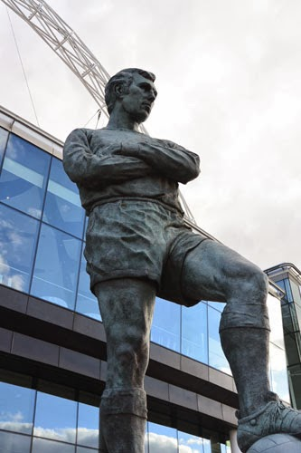 Bobby Moore Statue, Wembley Stadium, London, UK