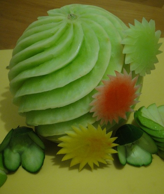 How to teach vegetable fruit carving your kids