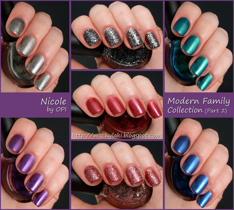 Wacky Laki: Nicole by OPI Modern Family Collection - Part 2