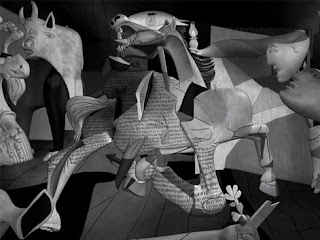 Picasso's Guernica in 3D - by Lena Gieseke