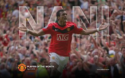 Goal Celebration Nani manchester united