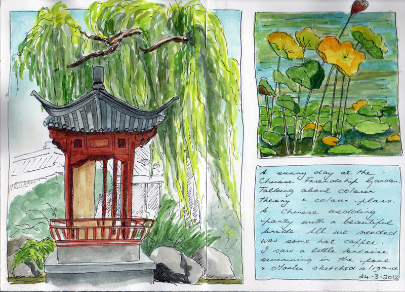 Urban Sketchers Australia Chinese Garden