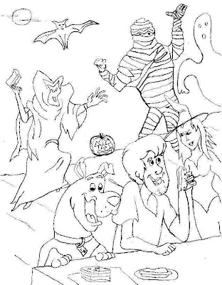 Scooby Doo Halloween Coloring Pages