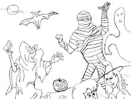 Free Halloween Coloring Pictures