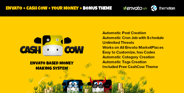 CodeCanyon - CashCow - Affiliate Based Money Making System